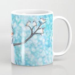 snowman and tufted titmouse flock Coffee Mug