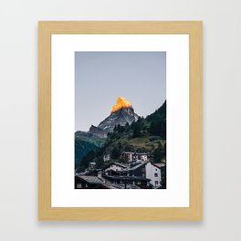 Beautiful Matterhorn in Sunrise Framed Art Print