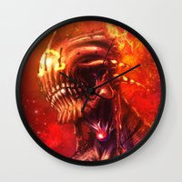 mars Wall Clocks featuring Mars by Vincent Vernacatola