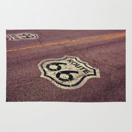 The mythical Route 66 sign in Texas, USA. Rug