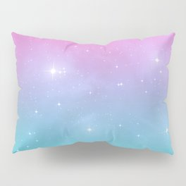 Pastel Goth Galaxy Pillow Sham