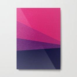 Stripe VII Ultraviolet Metal Print