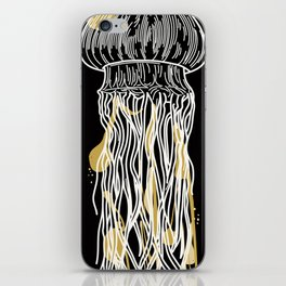 Electric Gold Jellyfish Uno iPhone Skin