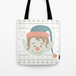 Funny Ugly Christmas xmas Elf Tote Bag