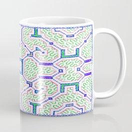 The Song to Support Spiritual Growth - Traditional Shipibo Art - Indigenous Ayahuasca Patterns Coffee Mug