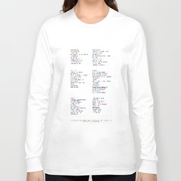 Faithless Colour Discography - Music in Colour Code Long Sleeve T-shirt