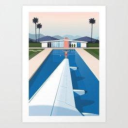 Jetting Away Art Print