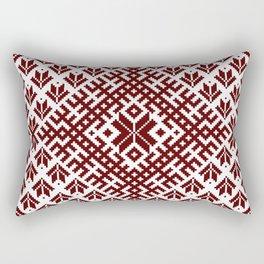 Latvian Traditional Folk Belt Design Pattern Rectangular Pillow