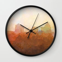 Greensboro, NC Skyline  - In the Clouds Wall Clock