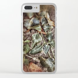 Winter Bedecked with Ivy Clear iPhone Case