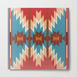 American Native Pattern No. 172 Metal Print