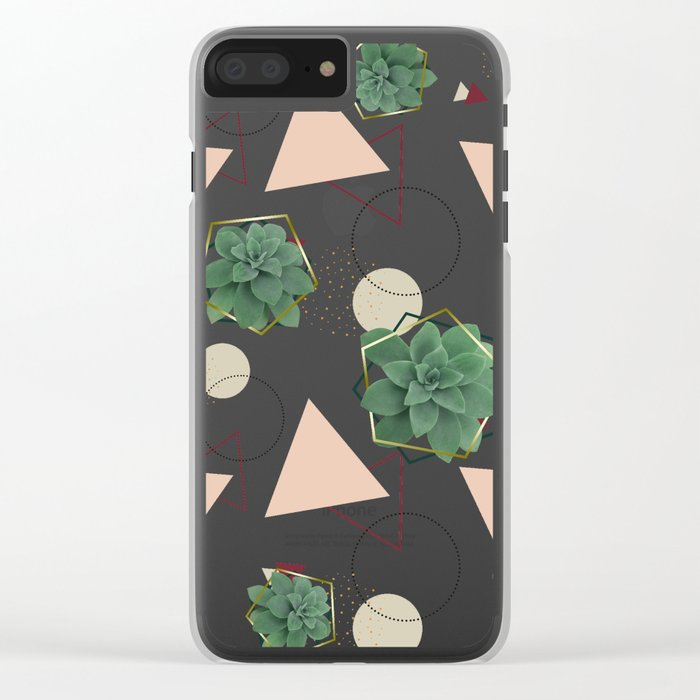 Lovely Succulents #redbubble #decor #buyart Clear iPhone Case