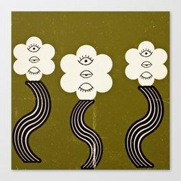 Flower Eyes Canvas Print