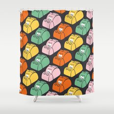 Hungry Hungry Pattern Shower Curtain