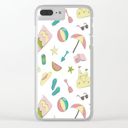 Summer Fun Clear iPhone Case