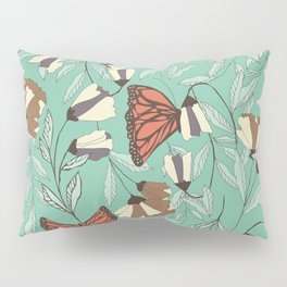 Beautiful Vintage Butterfly And Flower Pattern Pillow Sham