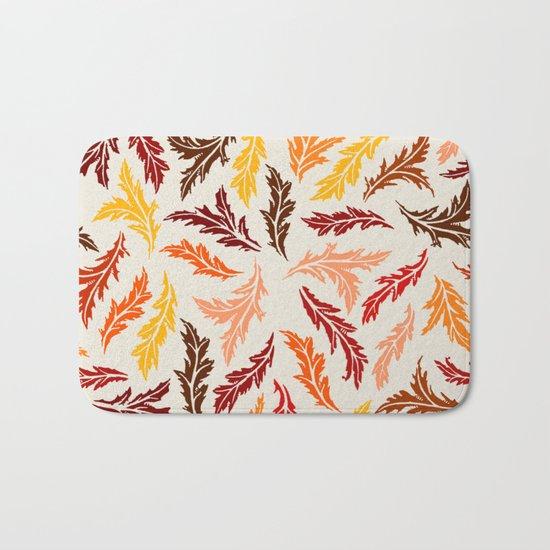 Colorful Leaves Bath Mat
