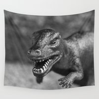 dinosaur Wall Tapestries featuring Dinosaur  by Kedzie Stark