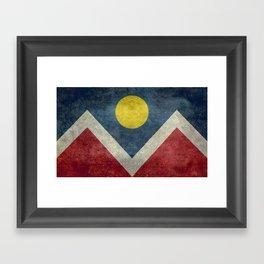 Denver (Colorado) city flag - Vintage version Framed Art Print