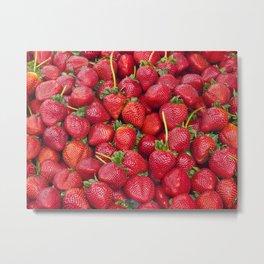 Fresh Strawberries! Metal Print