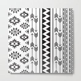 American Native Pattern No. 111 Metal Print