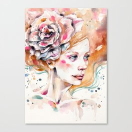 As Delicate As A Wildflower (female portrait) Canvas Print