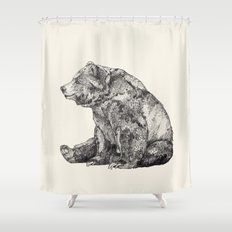 Bear // Graphite Shower Curtain