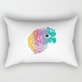 Rainbow Parrot Rectangular Pillow