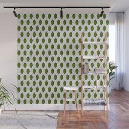 Hops Light Gray Pattern Wall Mural