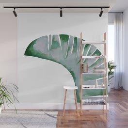 Single Banana leaf #watercolor #illustration Wall Mural
