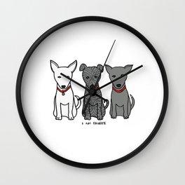 3 Musketeers, I Love Bali Dogs Wall Clock