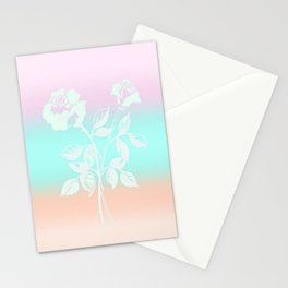 Pastel Roses Stationery Cards