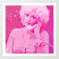 dolly parton Art Prints featuring Dolly Parton by D Arnold Designs