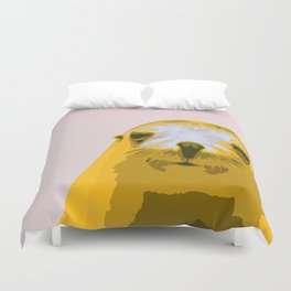 SEAL, HAPPY SEAL, SEAL FACE, Larhe pop art, curious seal, pop art animal, little seal, baby seal Duvet Cover
