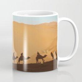 Camel Shadows in Sahara Desert Coffee Mug
