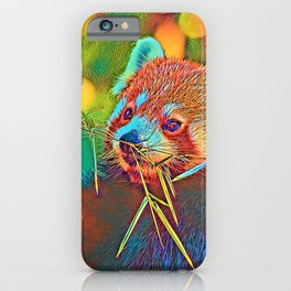 AnimalColor RedPanda 003 iPhone Case