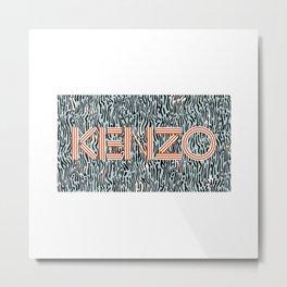 kenzo new 2018 word brand name designer Metal Print
