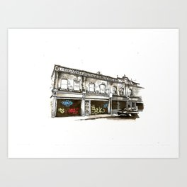 Shutters, Grantham Street, Dublin Art Print