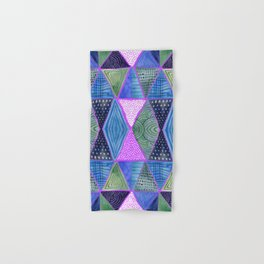 Patterned Mosaic Triangles Hand & Bath Towel