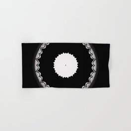 Black and White Sun Flower Abstract Hand & Bath Towel