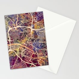 Glasgow City Scotland Street Map Stationery Cards