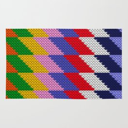 Knitted colorful pattern Rug