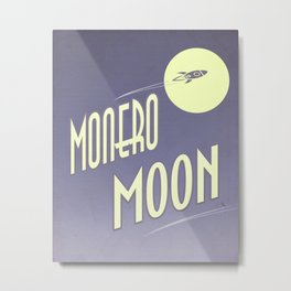 Monero Moon Metal Print