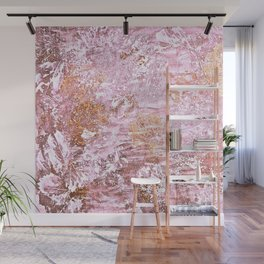 Abstract Autumn In Gold-Rosé Wall Mural