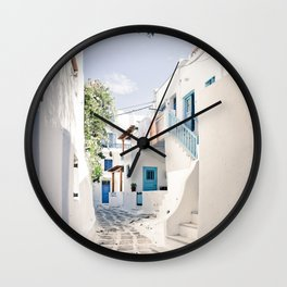 Mykonos Greece Wall Clock