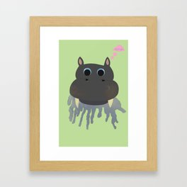 HICCUP! Framed Art Print