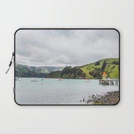 Daly's Pier, Akaroa, New Zealand Laptop Sleeve