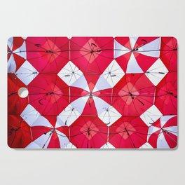 Red Umbrella Skies Cutting Board