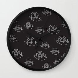 line drawing - snail Wall Clock