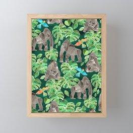 Gorillas in the Emerald Forest Framed Mini Art Print